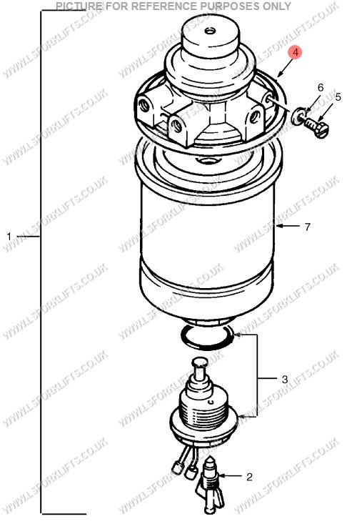 hyster fuel filter head  ls4708