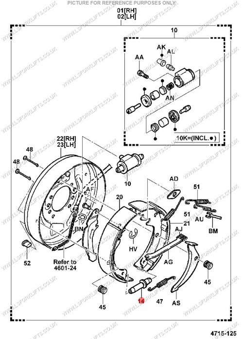 Toyota Brake Adjuster Rh Ls1273