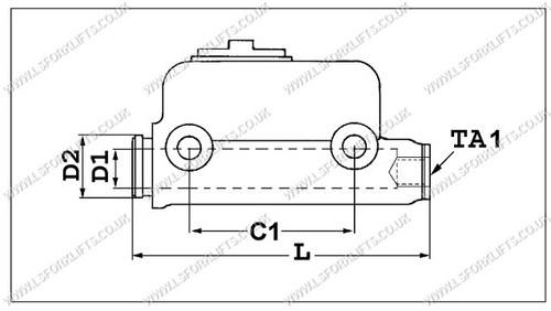 021308MASTERDIA toyota master cylinder (ls4979) lsfork lifts