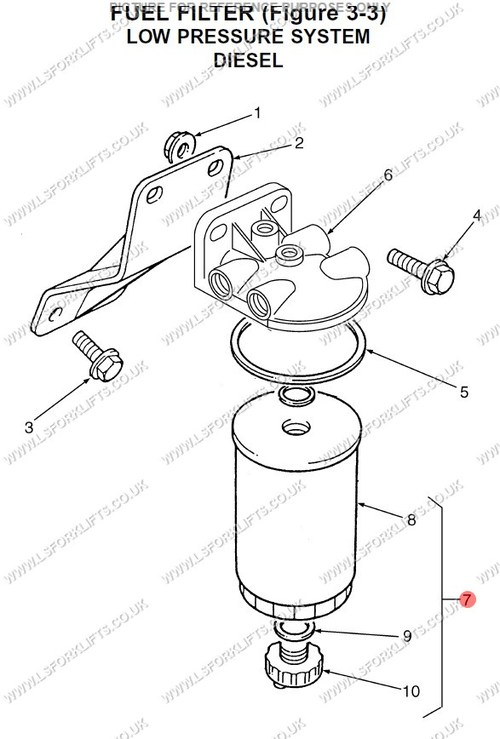 Hyster Fuel Filter Ls1341