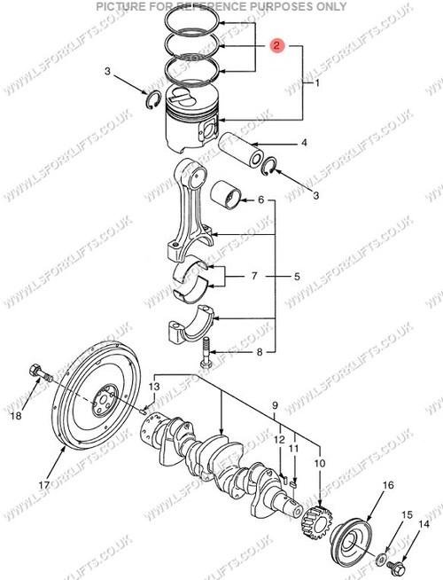 Yanmar 4tne98 Piston Ring Set Standard Ls5622