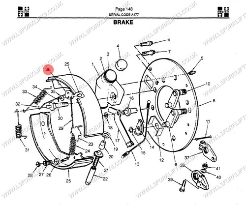 Hyster Brake Toggle Lever Ls6693