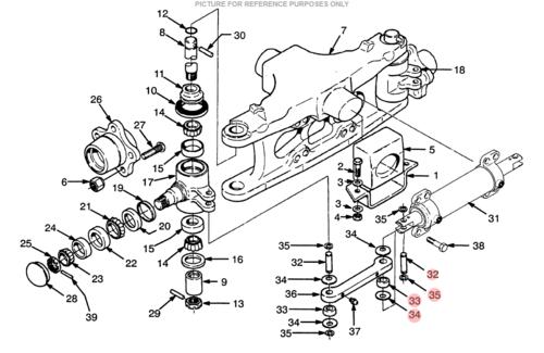hyster tie link kit  ls5438