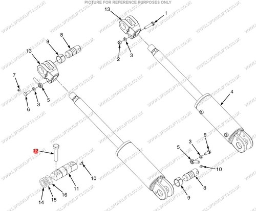 Hyster Bottom Mast Pin Ls4139