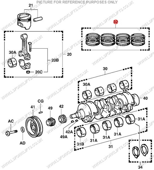 toyota 4y piston ring set suitable for 4y engine ref number ls6085