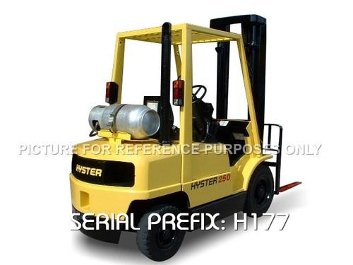HYSTER H2.00XM, H2.50XM, H3.00XM, H3.20XM (H177) DIESEL & LPG