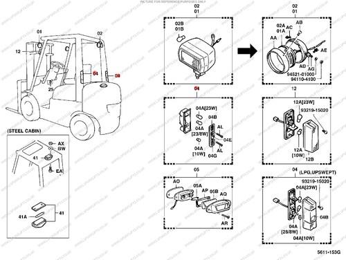 Toyota Rear Light Ls4374 Lsfork Lifts. Ref Number Ls4374. Toyota. Toyota Forklift 02 5fg45 Wiring Diagram At Scoala.co