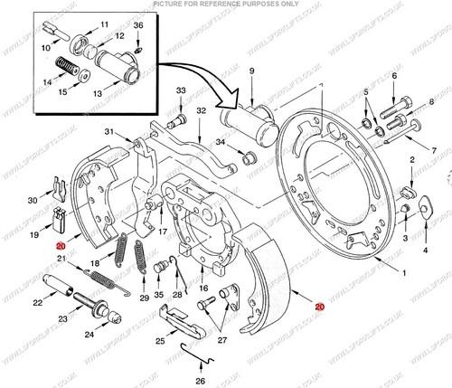 Hyster Brake Shoe Ls1373