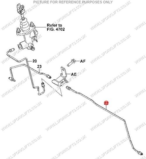 Toyota Pipe Brake Rh Ls2763
