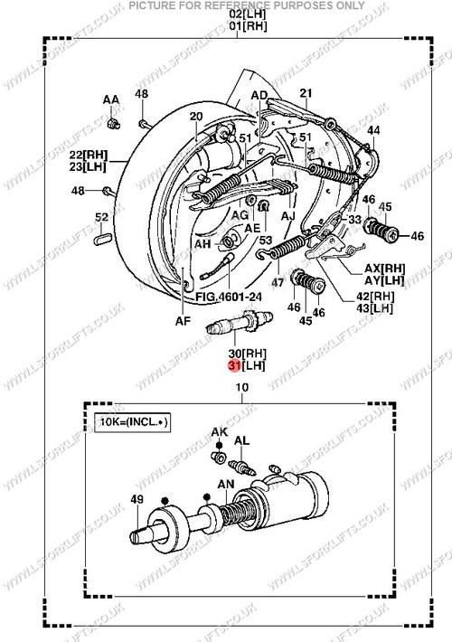 clark forklift brake parts diagram