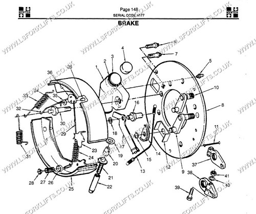 Hyster Brake Assembly Right Hand Side Ls6680