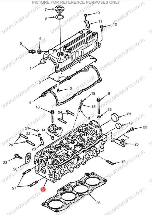 mazda fe f2 cylinder head  ls2155