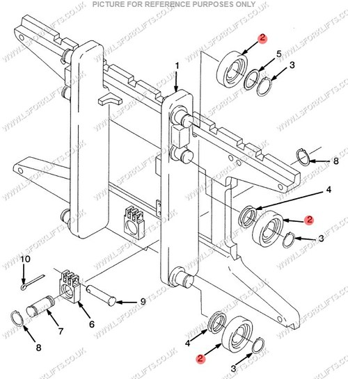 yale carriage roller  ls6603