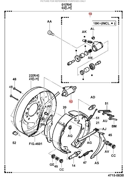 wheel brake cylinder  ls1470