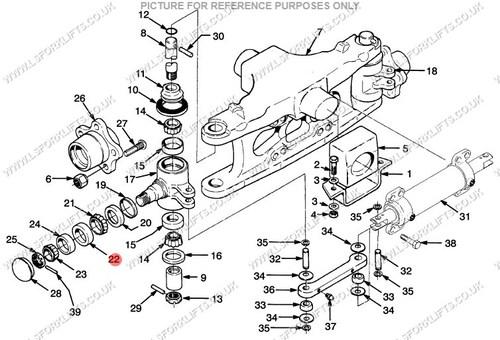yale steer axle bearing  ls1345