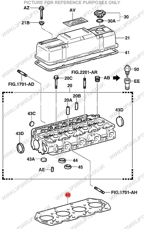 Toyota 2z2z Ii Cylinder Head Gasket Ls4117