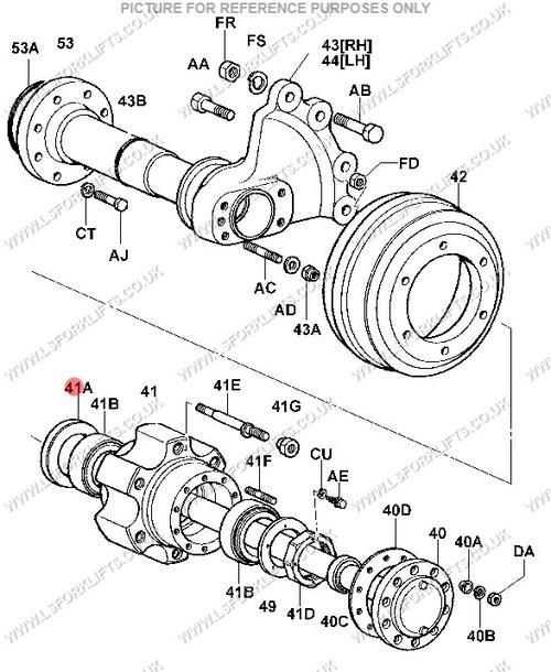 toyota oil seal inner ls5507 lsfork lifts Toyota Model 5Fgc25 toyota oil seal inner ref number ls5507