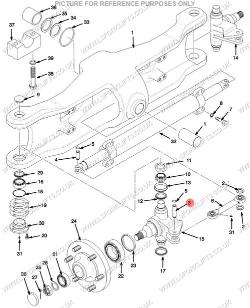 Hyster Forklift Axle Parts Diagram