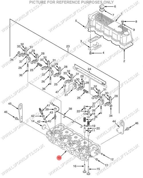 Yanmar 4tne98 Cylinder Head Ls5170
