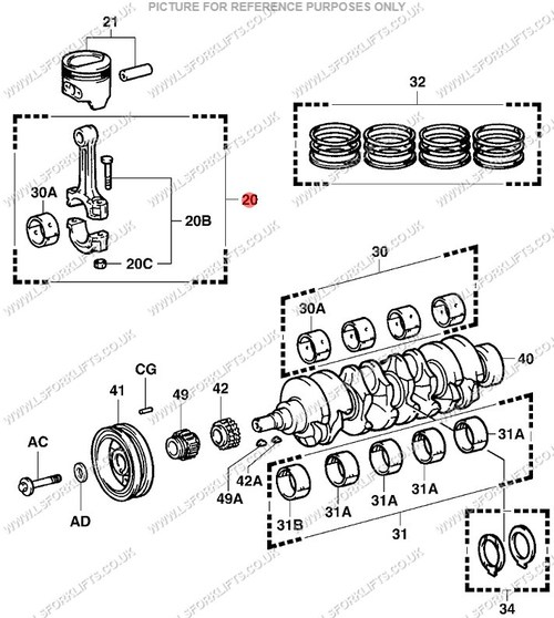 7fgcu25 toyota fork truck parts wiring library Toyota Forklift Parts Online toyota 4y connecting rod ls6078 lsfork lifts toyota 7fgcu25 manual 7fgcu25 toyota fork truck parts