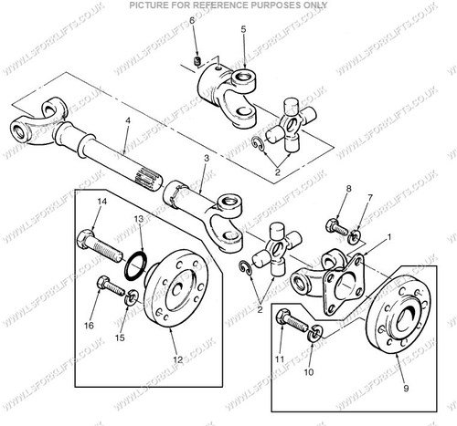 Hyster Drive Shaft Complete Ls6459