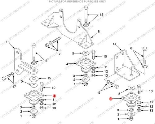 Hyster Engine Mount Ls5893