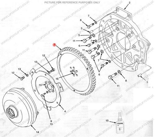 yale starter ring gear  ls3258
