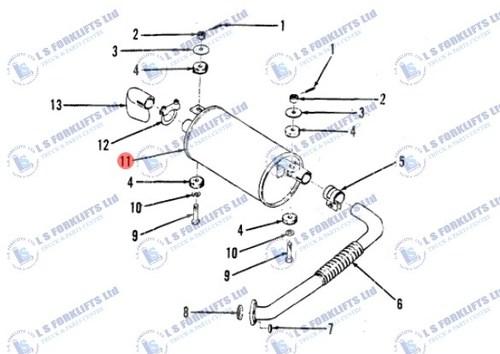 Yale Exhaust Muffler Ls6820