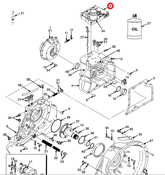 Forklift Transmission Parts : Komatsu forklift transmission diagram allis chalmers