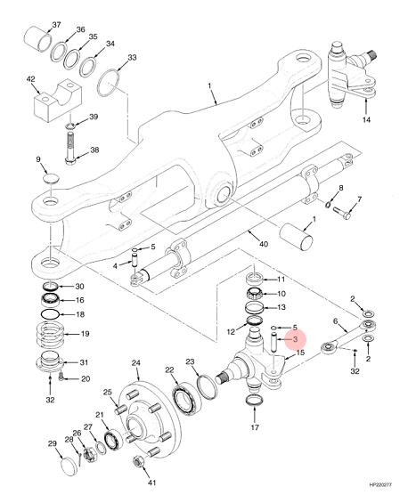 hyster steer axle pin ls5486 lsfork lifts Reer Axle g006 steering axle